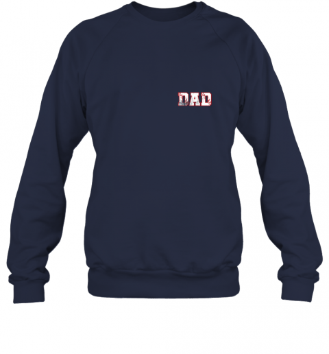 chhd mens baseball inspired dad fathers day distressed sweatshirt 35 front navy