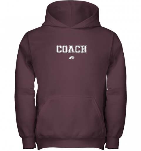 xhnn coach whistle shirt coaching instructor trainer jersey youth hoodie 43 front maroon