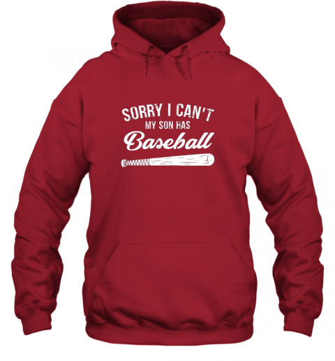 vm2o sorry i cant my son has baseball shirt mom dad gift hoodie 23 front red