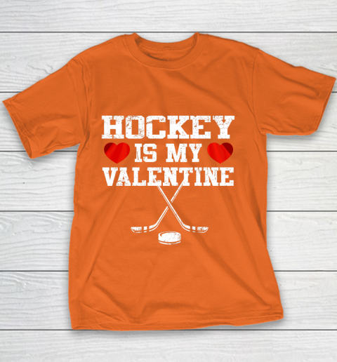Hockey Is My Valentine Youth T-Shirt 4