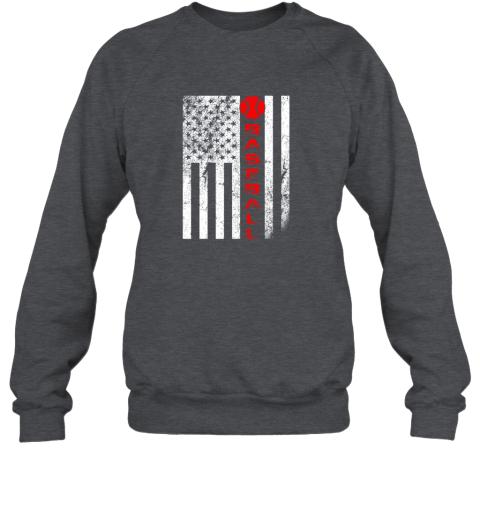 75at usa red whitevintage american flag baseball gift sweatshirt 35 front dark heather