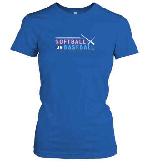 01ct softball or baseball shirt sports gender reveal ladies t shirt 20 front royal