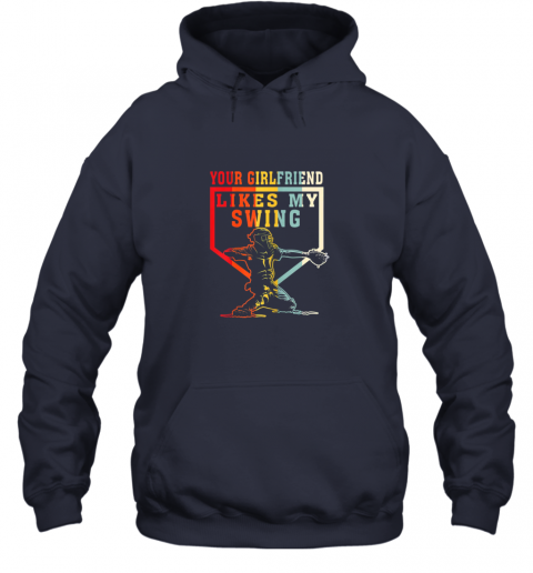 xe2m baseball your girlfriend likes my swing gift hoodie 23 front navy