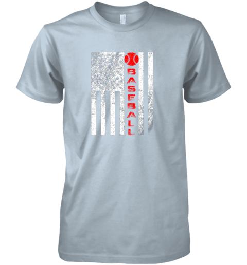 2o1t usa red whitevintage american flag baseball gift premium guys tee 5 front light blue