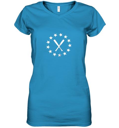 183c baseball with bats shirt baseballin player gear gifts women v neck t shirt 39 front sapphire