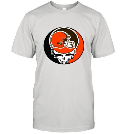 NFL Team Cleveland Browns x Grateful Dead Logo Band Unisex Jersey Tee