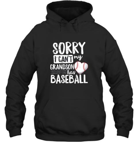 Sorry I Can't My Grandson Has Baseball Shirt Grandma Hoodie