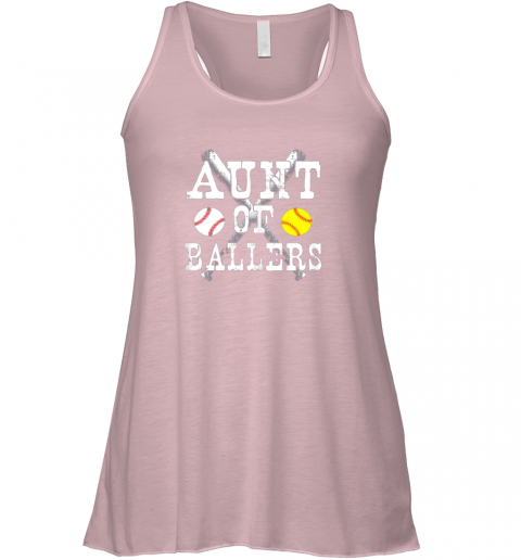 vx2p vintage aunt of ballers shirt funny baseball softball love flowy tank 32 front soft pink