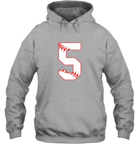 k8pz cute fifth birthday party 5th baseball shirt born 2014 hoodie 23 front sport grey