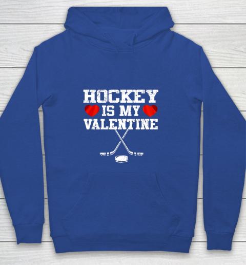 Hockey Is My Valentine Youth Hoodie 6