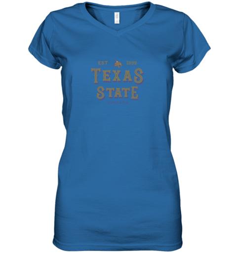 9btj texas state bobcats womens college ncaa women v neck t shirt 39 front royal