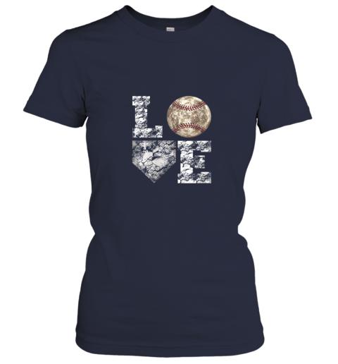 xawu baseball distressed ball cute dad mom love gift ladies t shirt 20 front navy