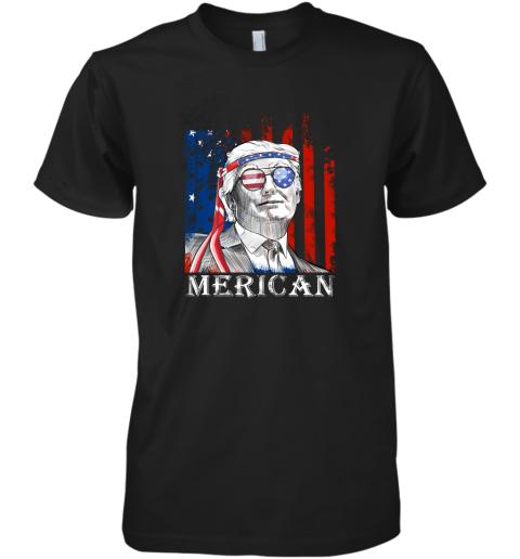 eko2 merica donald trump 4th of july american flag shirts premium guys tee 5 front black
