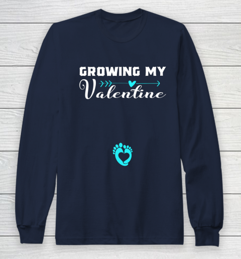 Cute Growing my Valentine Gift for Women pregnancy Long Sleeve T-Shirt 2