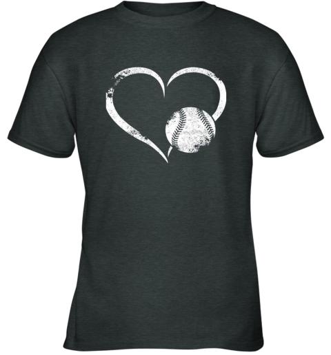 2382 i love baseballl funny baseball lover heartbeat youth t shirt 26 front dark heather