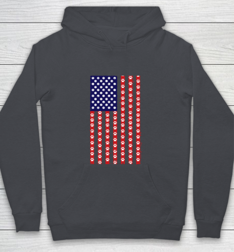 Handball Dog Lover American Flag Youth Hoodie 13