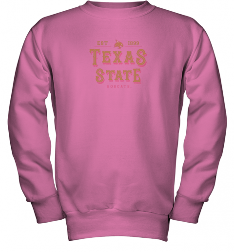 nwzp texas state bobcats womens college ncaa youth sweatshirt 47 front safety pink