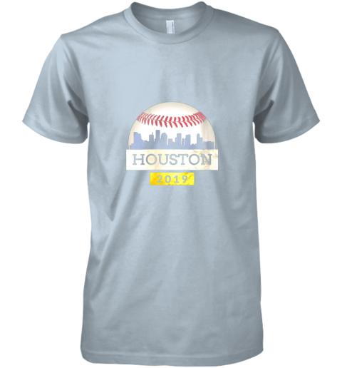 y1xb houston baseball shirt 2019 astro skyline on giant ball premium guys tee 5 front light blue
