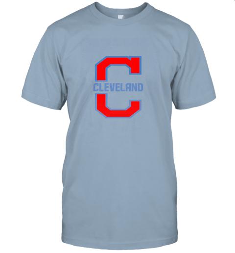j8zq cleveland hometown indian tribe vintage for baseball fans jersey t shirt 60 front light blue