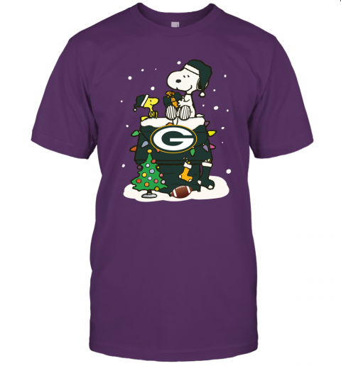 A Happy Christmas With Green Bay Packers Snoopy Unisex Jersey Tee