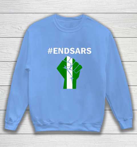 EndSARS End SARS Nigeria Flag Colors Strong Fist Protest Sweatshirt 8