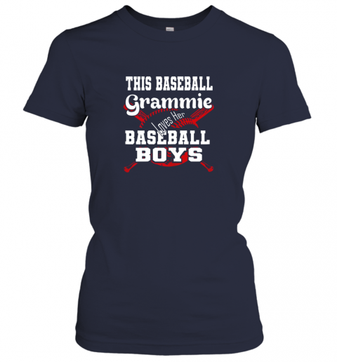 2pmy this baseball grammie loves her baseball boys ladies t shirt 20 front navy