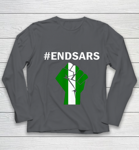 EndSARS End SARS Nigeria Flag Colors Strong Fist Protest Youth Long Sleeve 6