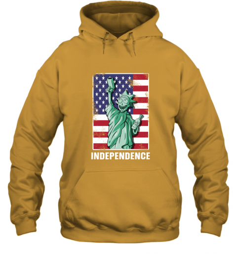 nmun rick and morty statue of liberty independence day 4th of july shirts hoodie 23 front gold