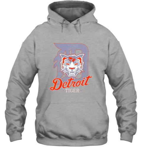 pwkk tiger mascot distressed detroit baseball t shirt new hoodie 23 front sport grey