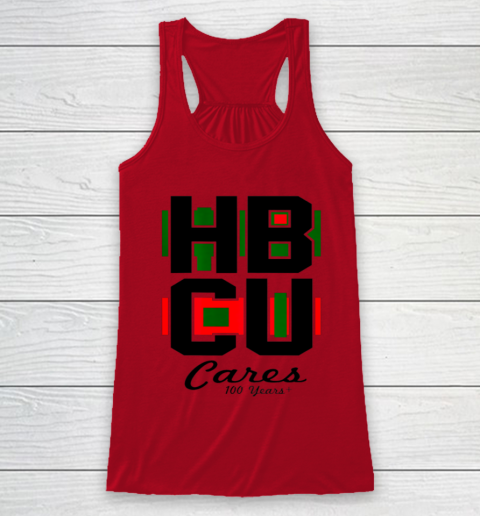 HBCU Cares College University Graduation Gift Black School Racerback Tank 4