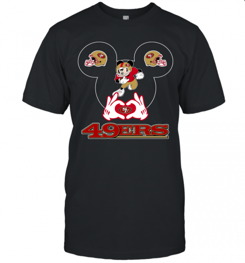 I Love The 49ers Mickey Mouse San Francisco 49ers Unisex Jersey Tee