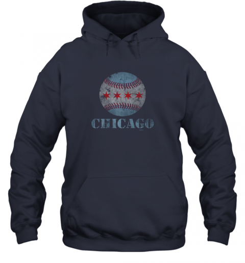 sqmh vintage chicago baseball flag hoodie 23 front navy