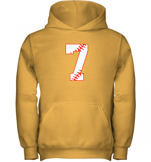 uehl cute seventh birthday party 7th baseball shirt born 2012 youth hoodie 43 front gold