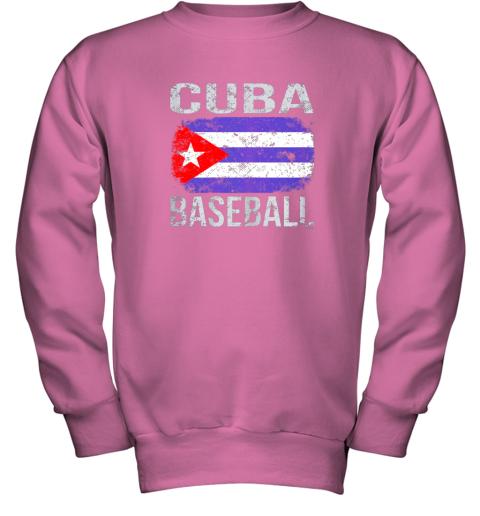 lmr4 cuba baseball cuban flag youth sweatshirt 47 front safety pink