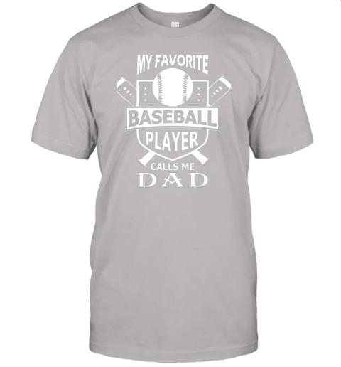 qovj mens my favorite baseball player calls me dad jersey t shirt 60 front ash