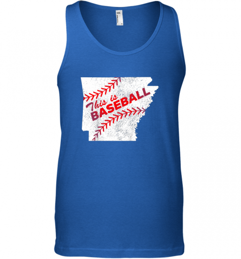 13k1 this is baseball arkansas with red laces unisex tank 17 front royal