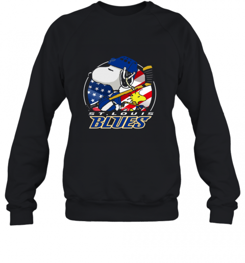 St Louis Blues   Snoopy And Woodstock NHL Sweatshirt