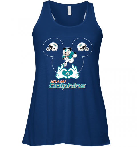 a2sk i love the dolphins mickey mouse miami dolphins flowy tank 32 front true royal