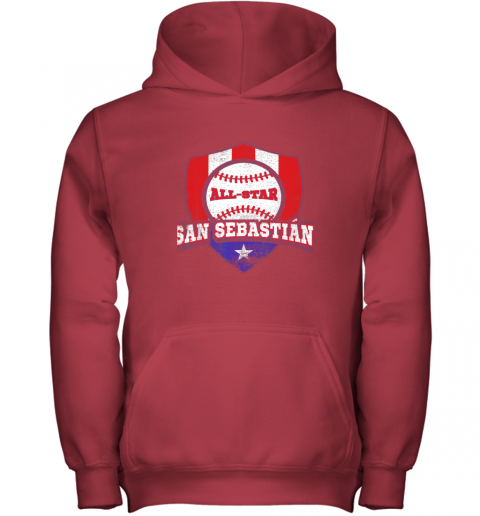 jv9h san sebastian puerto rico puerto rican pr baseball youth hoodie 43 front red