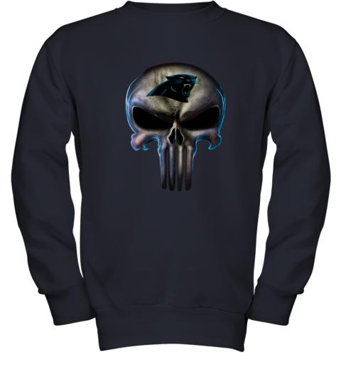 Carolina Panthers The Punisher Mashup Football Youth Sweatshirt