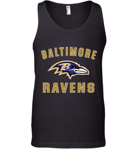 1ekh mens baltimore ravens nfl pro line by fanatics branded gray victory arch t shirt unisex tank 17 front black