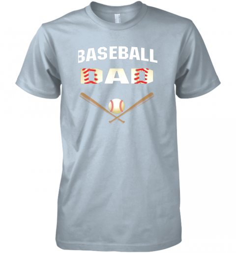 d0wu mens baseball dad shirtbest gift idea for fathers premium guys tee 5 front light blue