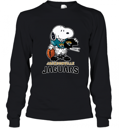 Snoopy A Strong And Proud Jacksonville Jaguars NFL Youth Long Sleeve