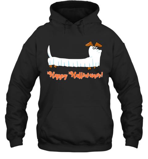 Dachshund Ghost Happy Halloweiner Funny Hallowen Dogs Lover Hoodie