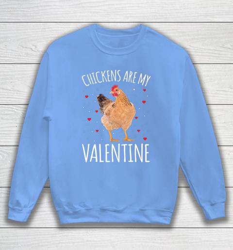 Funny Valentines Day Shirt Farmer Chickens Are My Valentine Sweatshirt 8