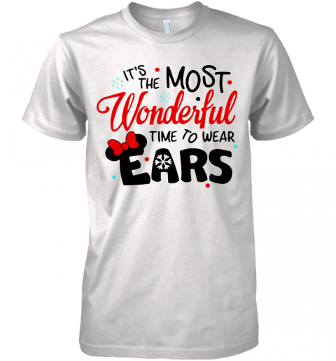 Disney Minnie Mouse It's The Most Wonderful Time To Wear Ears shirt Premium Men's T-Shirt