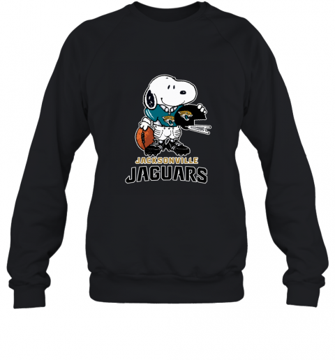 Snoopy A Strong And Proud Jacksonville Jaguars NFL Sweatshirt