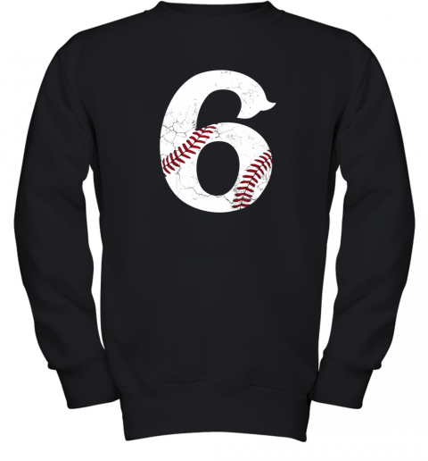 Kids Happy Birthday 6th 6 Year Old Baseball Gift Boys Girls 2013 Youth Sweatshirt