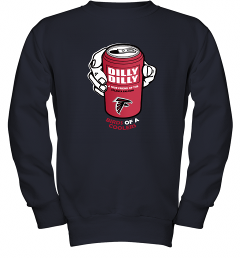 Bud Light Dilly Dilly! Atlanta Falcons Birds Of A Cooler Youth Sweatshirt