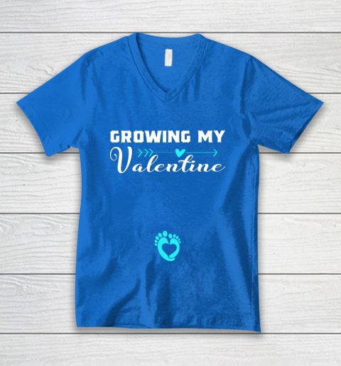 Cute Growing my Valentine Gift for Women pregnancy V-Neck T-Shirt 5